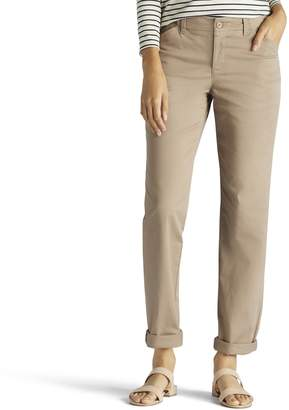 Lee Petite Straight-Leg Twill Pants