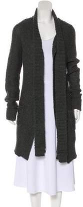 Barneys New York Barney's New York Long Sleeve Tie-Accented Cardigan