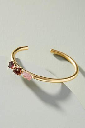 Dani Barbe Raw Gemstone Cluster Cuff Bracelet