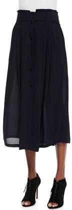 A.L.C. McDermott Belted Midi Skirt