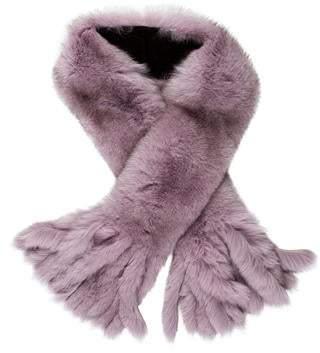 Neiman Marcus Fur Tassel-Accented Stole