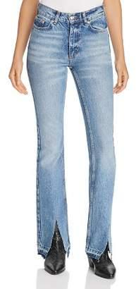 Anine Bing Roxanne Flare Jeans in Blue