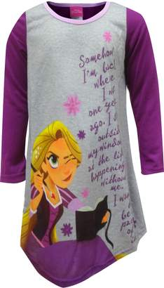 AME Sleepwear Disney Tangled Rapunzel and Her Diary Nightgown for Little Girls