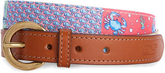 Vineyard Vines Heritage Original Patchwork Silk Belt