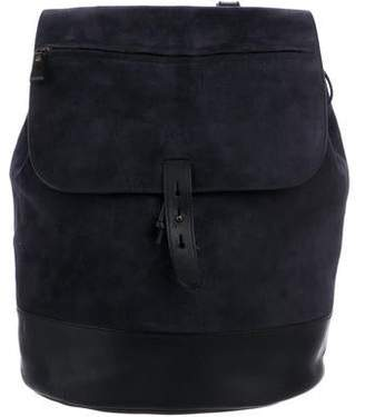 Tomas Maier Suede Flap Front Backpack