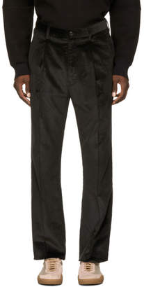 Name Black Corduroy Single Pleat Trousers