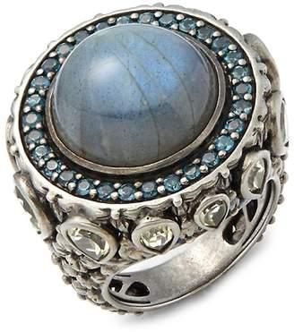 Stephen Dweck Women's Amethyst, Garnet, 18K Gold & Sterling Silver Ring