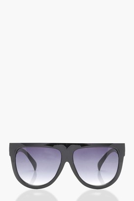 boohoo Flat Top Oversized Sunglasses