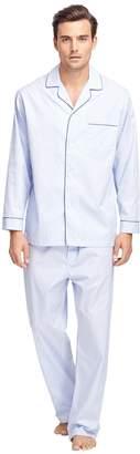 Brooks Brothers Framed Stripe Luxury Pajamas