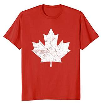 Canada Maple Leaf Distressed Vintage Look T Shirt 150