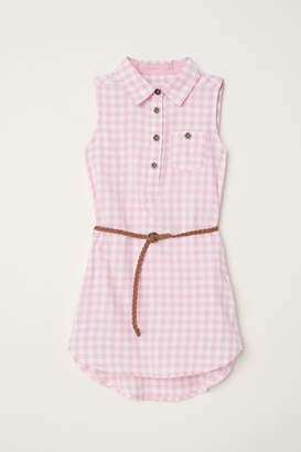 H&M Sleeveless Shirt Dress - Pink