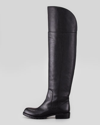 Marc by Marc Jacobs Over-The-Knee Leather Boot, Black