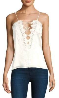 CAMI NYC Charlie Charmeuse Lace-Up Camisole
