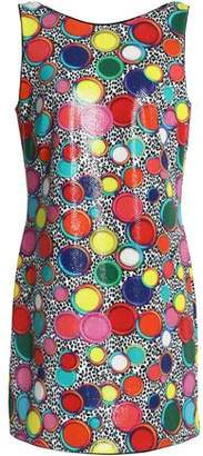Just Cavalli Printed Sequined Stretch-Jersey Mini Dress