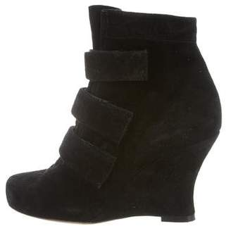 Tabitha Simmons Suede Wedge Ankle Boots