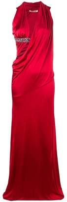 Roberto Cavalli cut-out evening dress