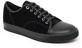 Lanvin Men's Classic Suede & Leather Tonal Sneakers