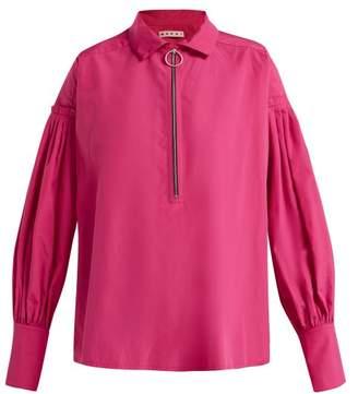 Marni Pleated Cotton Shirt - Womens - Pink