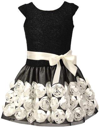 Jayne Copeland Little Girls Soutache Floral Dress