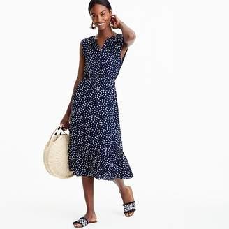 J.Crew Tall Mercantile cap-sleeve midi dress in dragonfly print