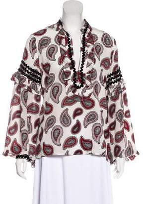 Dodo Bar Or Silk Paisley Print Blouse