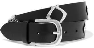 Isabel Marant Tehora Embellished Leather Belt - Silver
