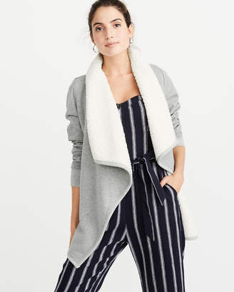 Abercrombie & Fitch Sherpa Open Front Cardigan