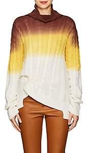 Sies Marjan Women's Maren Gradient Turtleneck Sweater-Dusty grn, Dk salmon deg
