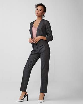 Express Petite One Button Cutaway Blazer