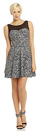 Betsey Johnson Mesh Fit-and-Flare Dress