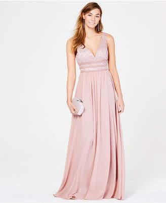 d03afb89433 City Studios Juniors  Glitter Lace   Chiffon Gown