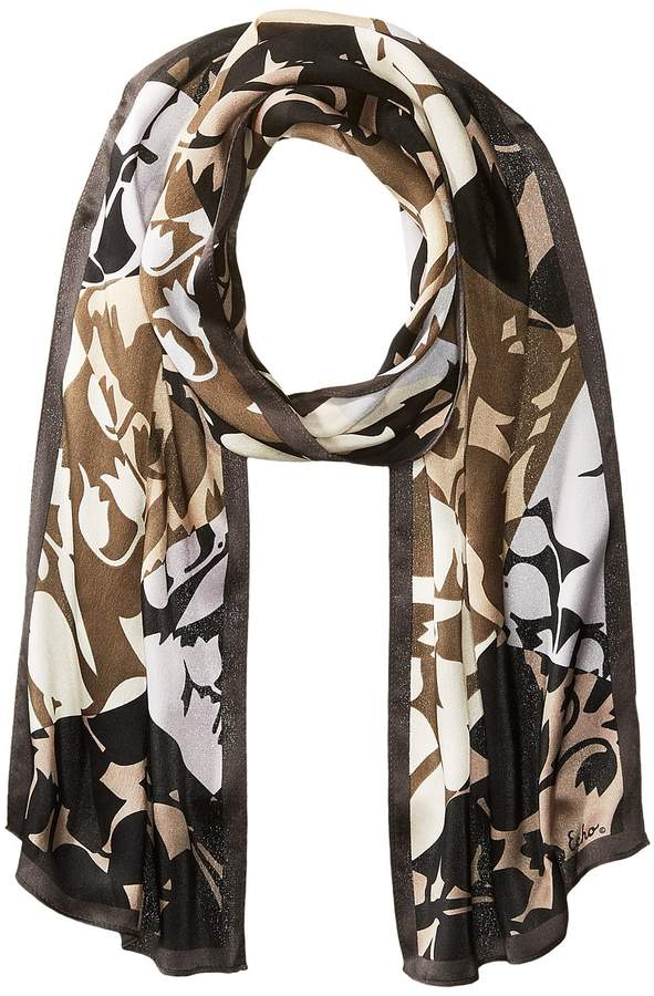Echo Design - Geo Trellis Silk Oblong Scarf Scarves