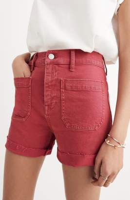 Madewell Garment Dyed High Waist Denim Shorts