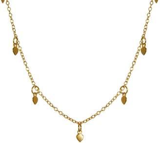 Satya Lotus Petals Adjustable Choker Necklace,Goldtone Brass