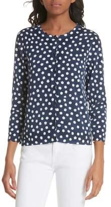 Kate Spade cloud dot scallop cotton cardigan