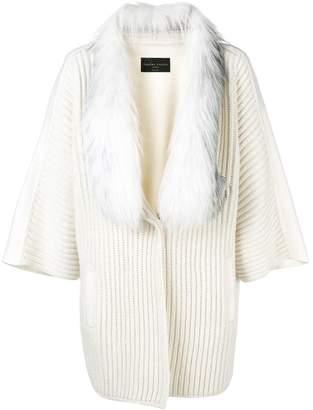 Fabiana Filippi fur collar midi coat