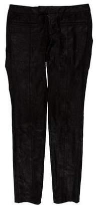 Helmut Lang Low-Rise Suede Pants
