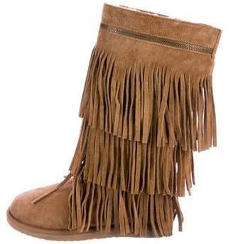 Koolaburra Suede Round-Toe Mid-Calf Boots