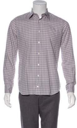 Luciano Barbera Plaid Woven Shirt