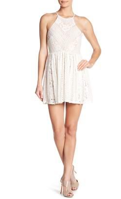 Jump High Neck Lace Dress