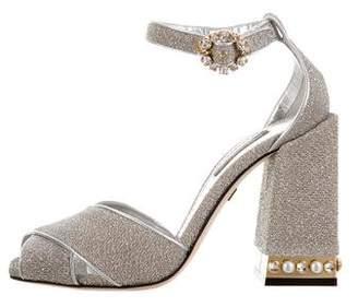 Dolce & Gabbana Glitter Embellished Sandals