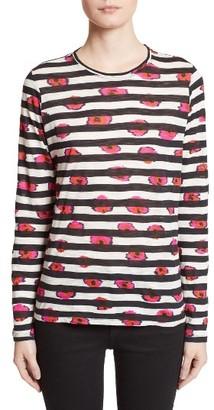 Women's Proenza Schouler Print Tissue Jersey Tee $325 thestylecure.com
