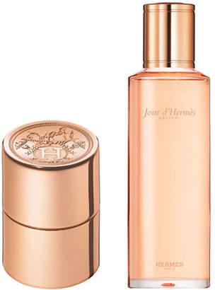 Hermes Jour d Absolu 10 ml Eau de Parfum Refillable Purse Spray and 125 ml Refill