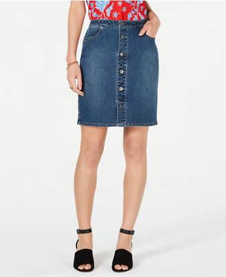 a1a5c0b397 Style & Co Petite Button-Down Denim Skirt