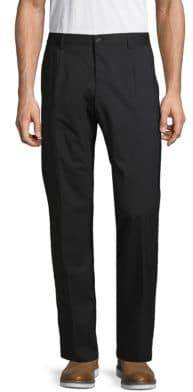 Dolce & Gabbana Wool Blend Flat Front Pants