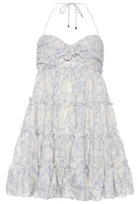 Zimmermann Linen and cotton minidress