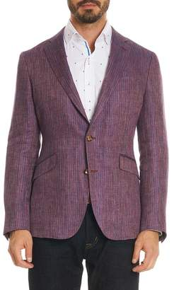Robert Graham Corbett Tailored Fit Stripe Linen Sport Coat