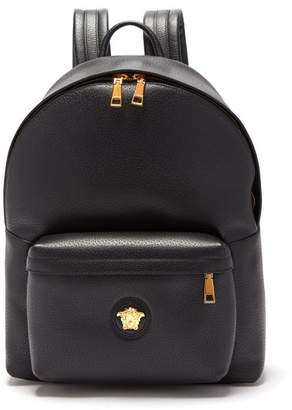 6e5b14c46a Versace Medusa Head Leather Backpack - Mens - Black