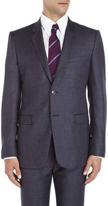 Theory Charcoal Two-Button Slim Fit Wool Suit Jacket