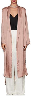 Juan Carlos Obando Women's Washed Satin Long Robe - Blush